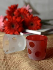 Polka Dotted Tea-light Holder -Set Of 2 - Ambbi Collections