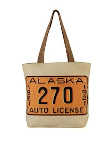 Alaska License Plate Handbag - The House Of Tara