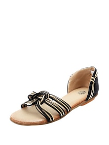 Black And Gold Designer Flats - KNIGHT N GALE