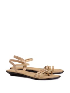 sleek beige sandal