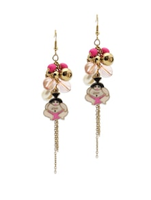 Pink Sumo Drop Earrings - Blend Fashion Accessories
