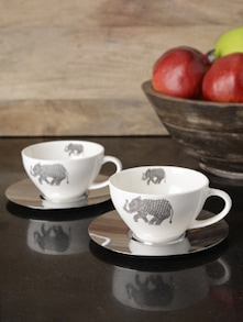 Set Of Two Heritage Cup & Saucer - Arttd'inox