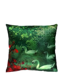Enchanted Evening Poly Silk Cushion Cover - India Circus