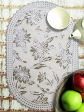 Scalloped Edge Printed Table Mat - Freelance