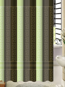 Shower Curtain With Geometric Print - Freelance