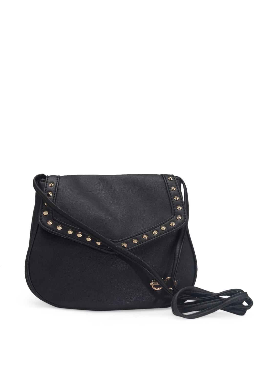 Buy Black Studded Sling Bag by E2o - Online shopping for Sling ...