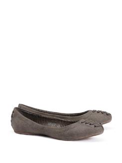 Lace Accent Brown Ballet Flats - CATWALK