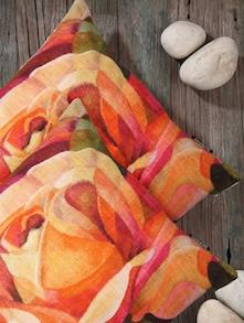 Rose Print Cushion Covers (Set Of 2) - Belkado