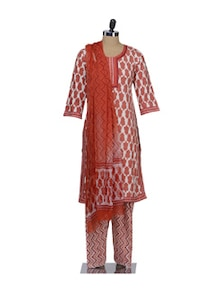 Leaf Print Suit In Bright Tones - KILOL