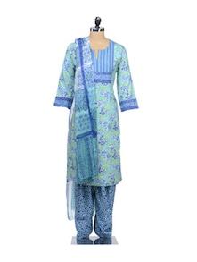 Floral Turquoise Suit Set - KILOL