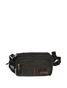 Stylish Black Travelling Waist Pouch - DEZINE CULTS