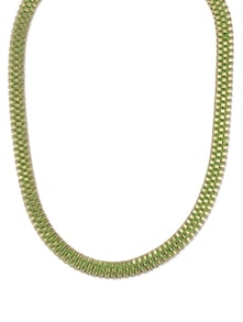 Green & Gold Chain Necklace - YOUSHINE