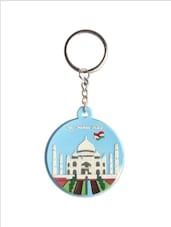 Taj Mahal & Flag Keychain - The Bombay Store