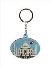 Taj Mahal & Elephant Motif Keychain - The Bombay Store