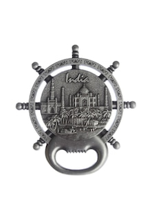 Silver Indian Monument Magnet Cum Bottle Opener - The Bombay Store