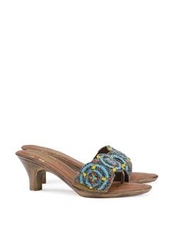 Beaded Bella Blue Festive Sandal - CATWALK