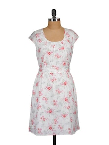 White Floral Summer Dress - MARTINI