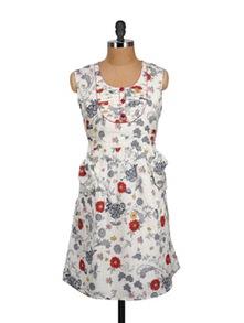 Multicolored Floral Summer Dress - MARTINI