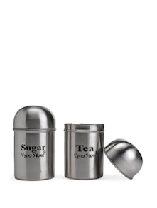 Tea & Sugar Canister Set - 2 Pcs - Retro Kitchenware