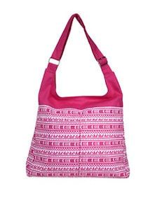 Fuchsia Printed Canvas Sling Bag - YOLO - You Only Live Once