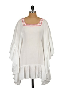 White Kaftan Dress - Tops And Tunics