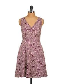Purple Wrap Dress - Tops And Tunics