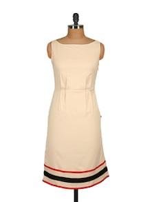 Beige Sheath Dress - Tops And Tunics