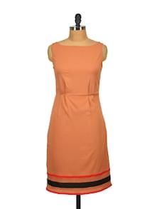 Orange Sheath Dress - Tops And Tunics