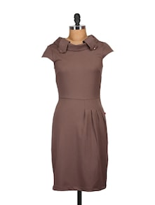 Stylish Khaki Brown Dress - Tops And Tunics