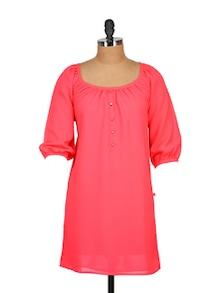 Shocking Coral Dress - Tops And Tunics