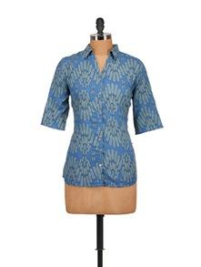 Leaf Print Shirt - Tops And Tunics