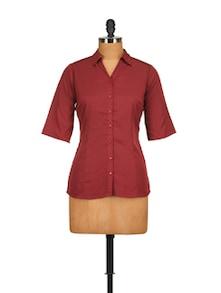 Classic Maroon Shirt - Tops And Tunics