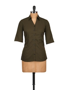 Military Green Shirt - Tops And Tunics