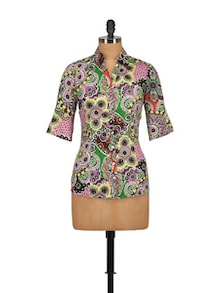 Multi Print Shirt - Tops and Tunics