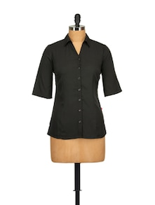 Classic Black Shirt - Tops And Tunics