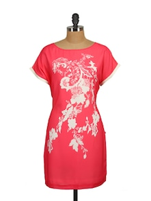Coral Pink Dress - Tops And Tunics