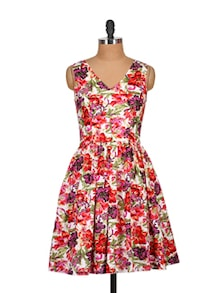 Floral Bloom Sleeveless Dress - Tops And Tunics