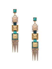 Diva Green & Gold Earrings - CIRCUZZ
