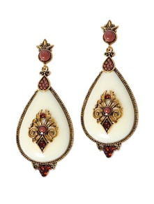 Antique Gold Tear Drop Danglers - CIRCUZZ