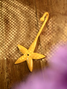 Flower Shaped Metal Hook- Yellow - Color Palette