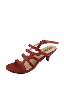 Maroon Strappy Sandals - Balujas