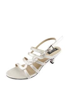Silver Strappy Sandals - Balujas