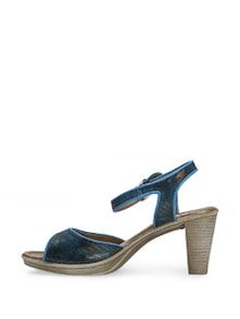 Electric Blue Block Heels - La Briza
