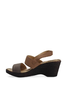 Coffee Brown Wedge Heels - La Briza