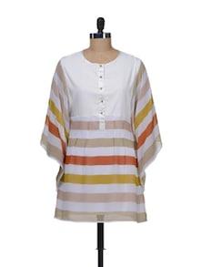 Off-White Striped Tunic - AKYRA