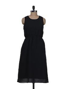 Long Black Sleeveless Dress - AKYRA