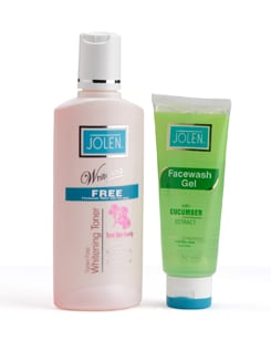 Whitening Toner (+ Free Face Wash Gel with Cucumber Extract) - Jolen