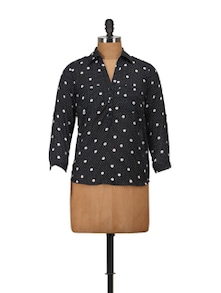 Black & White Dotted Top - Harpa