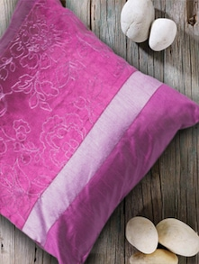dual shade polyester cushion cover