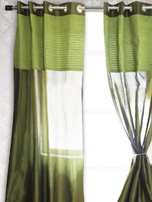Green Sheer Window Curtain - HOUSE THIS